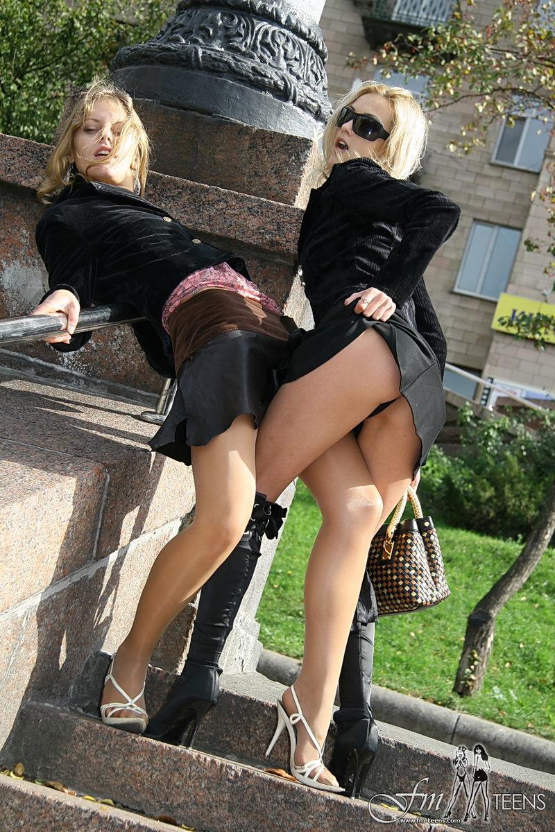 решили вместе порно видео на улице в мини юбках впереди названьем
