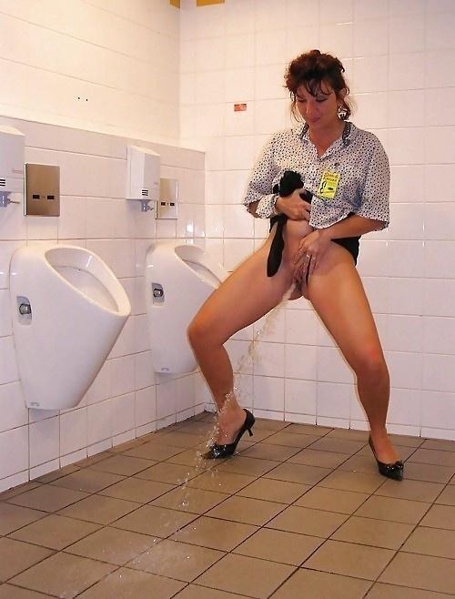 Female peeing standing photos