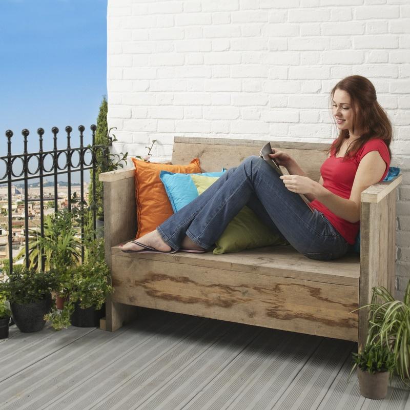 """Садовая скамейка на балконе"""" - карточка пользователя purtova."""