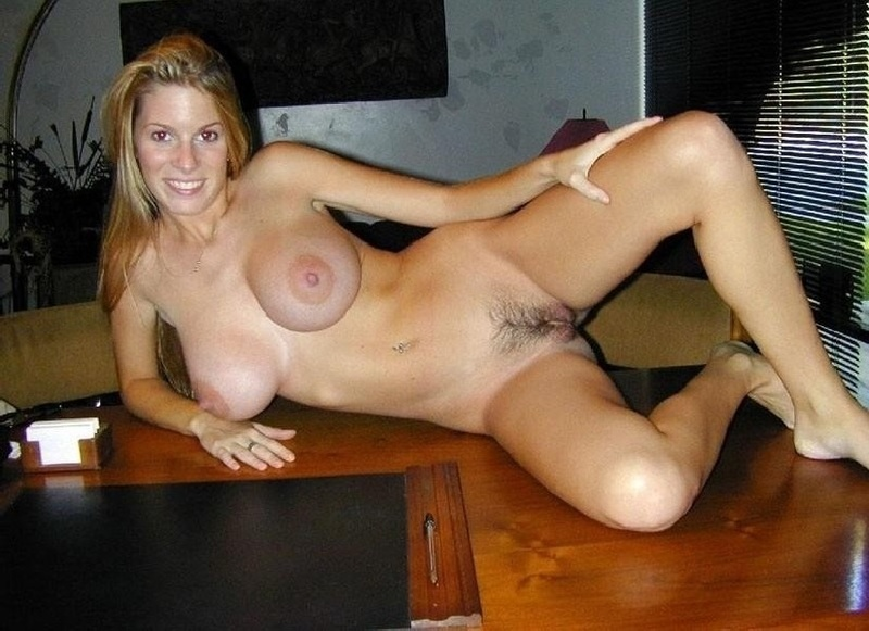 Blonde and tan milf