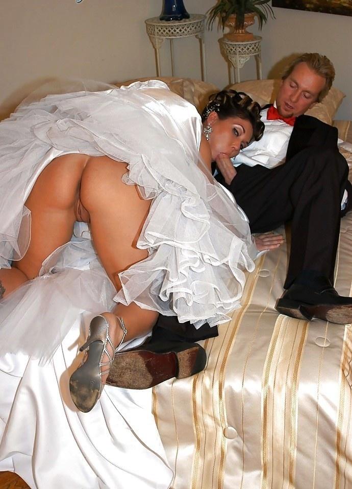 Смотреть трахнули невесту между