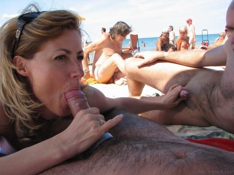 фото минета на пляже крупным планом