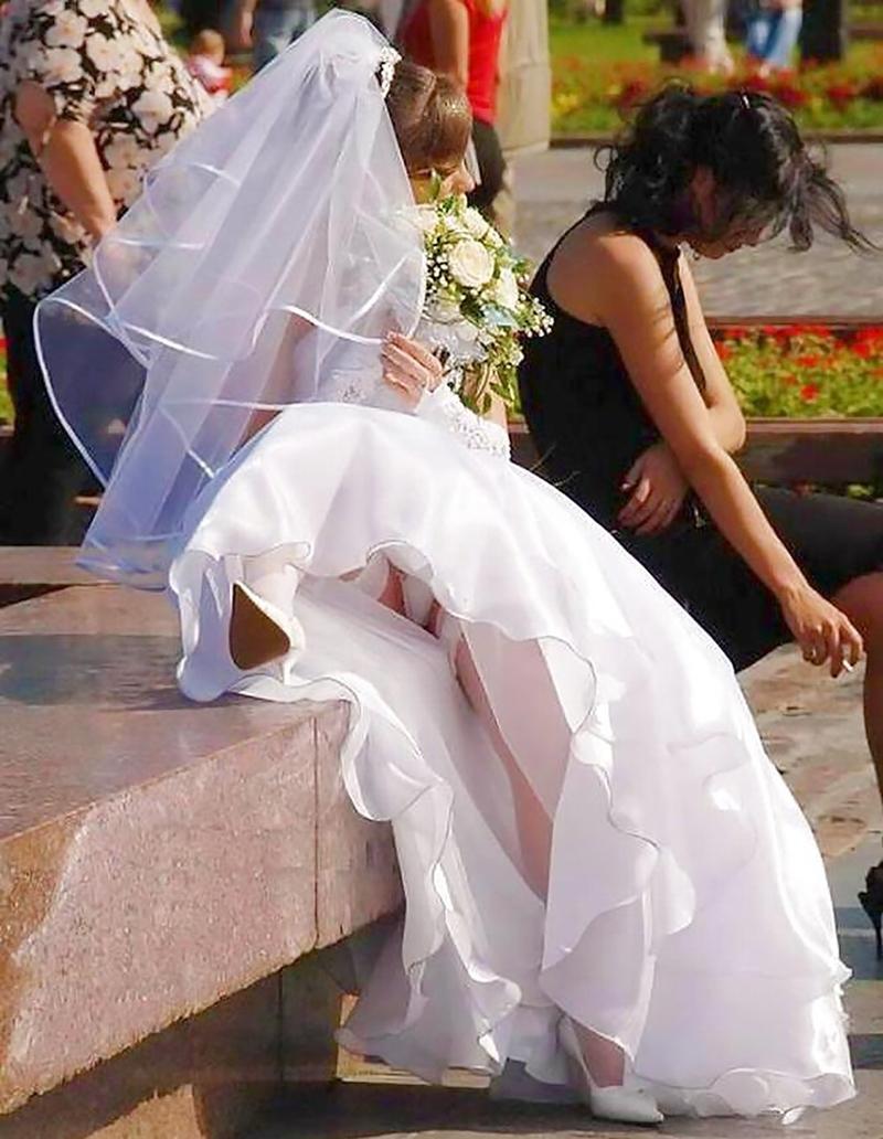 Реальный секс невест на улице 21 фотография