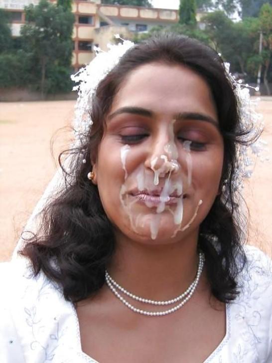 Кончают на лицо невесте