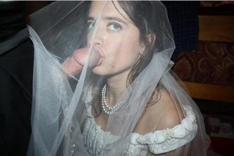 отсос от невесты-фото
