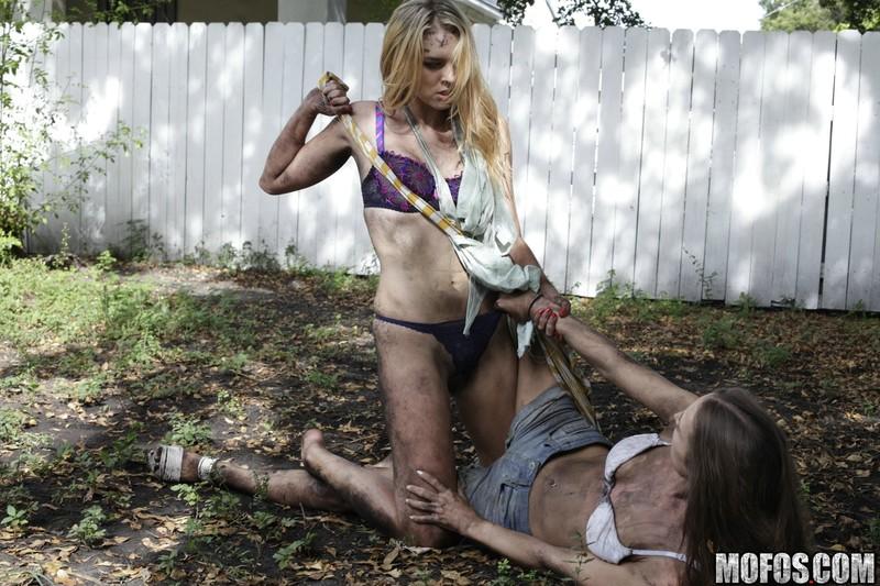Two Playful Girls Enjoy Mud Wrestling One Of Them Blows Brdteengal 1