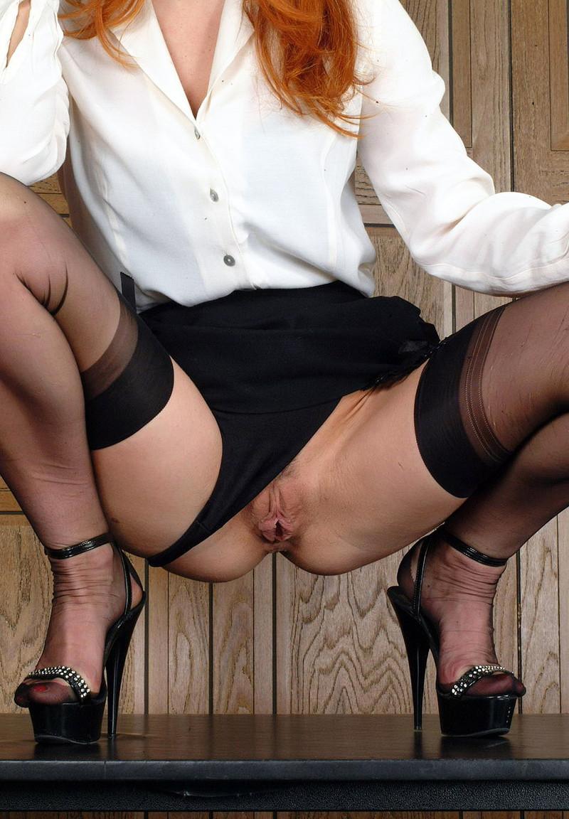 Mature Secretary Stockings